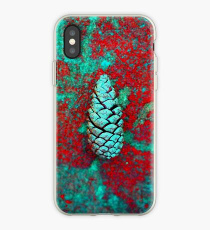 Solo Pine Cone In Red And Green iPhone Case