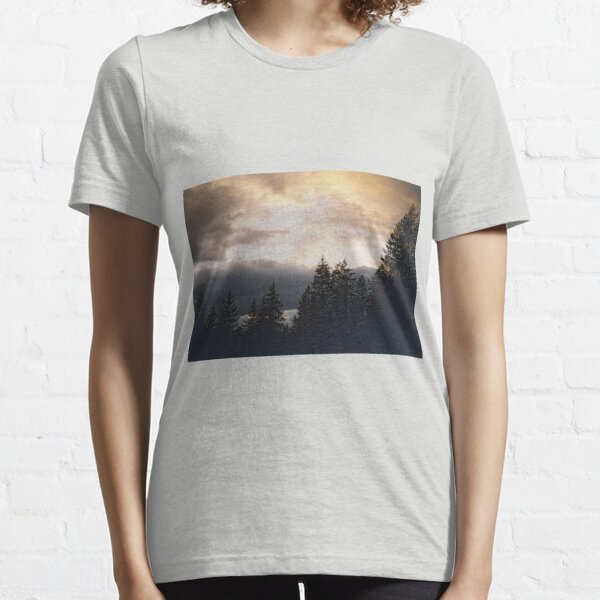 Sunset in the forest Essential T-Shirt