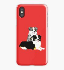 Australian Shepherd Pair iPhone Case