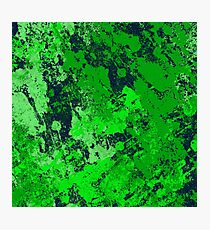 Abstract Earth - textured, blue and green, painting Photographic Print