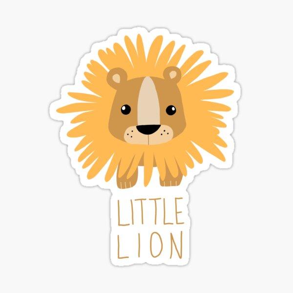 Little Lion Illustration (full colour) Sticker