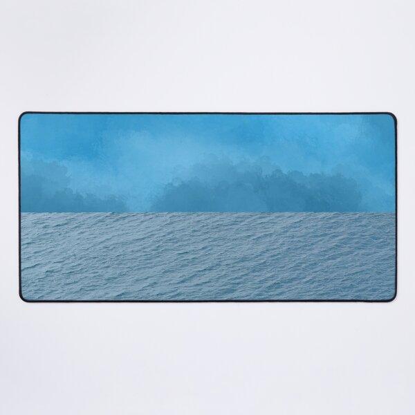 Waves meet watercolor sky - calming water Desk Mat