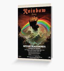 Rainbow Rising Album Launch 1976 Advert Poster Greeting Card