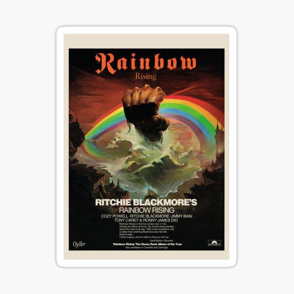 Rainbow Rising Album Launch 1976 Advert Poster Sticker