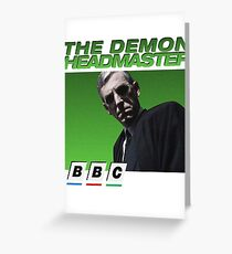 Demon Headmaster 90s BBC Greeting Card