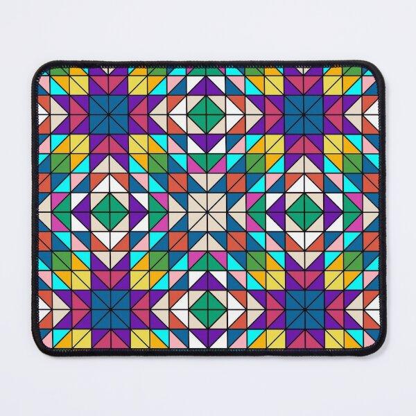 Mosaic diamond Line Pattern - Diamond Pattern - Mosaic Mouse Pad