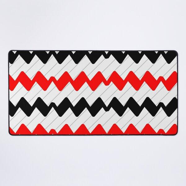 Zigzag Line Pattern - zigzag pattern Desk Mat
