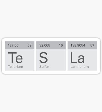 Periodic Tesla Sticker