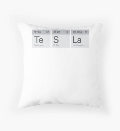 Periodic Tesla Throw Pillow