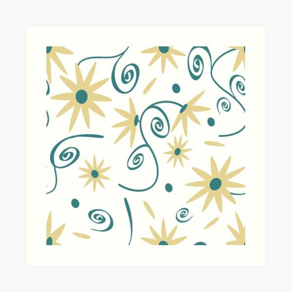 Wildflower on white Art Print