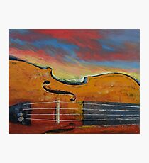 Violin Photographic Print