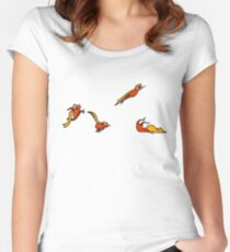 Superkid sequential art Women's Fitted Scoop T-Shirt
