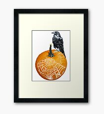 Crow & Pumpkin Threads Framed Print