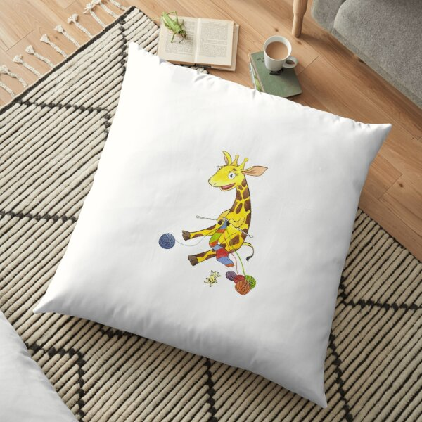 Knitting giraffe Floor Pillow