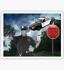 I'M JUST DOING MY JOB..I'M THE HIGHWAY PATROL.. FUNNY POLICE PICTURE AND OR CARD ..BUT U HAD BETTER STOP..OR ELSE LOL.. Sticker