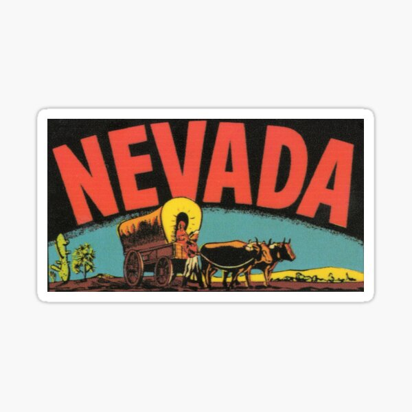 Nevada NV State Vintage Travel Decal Sticker