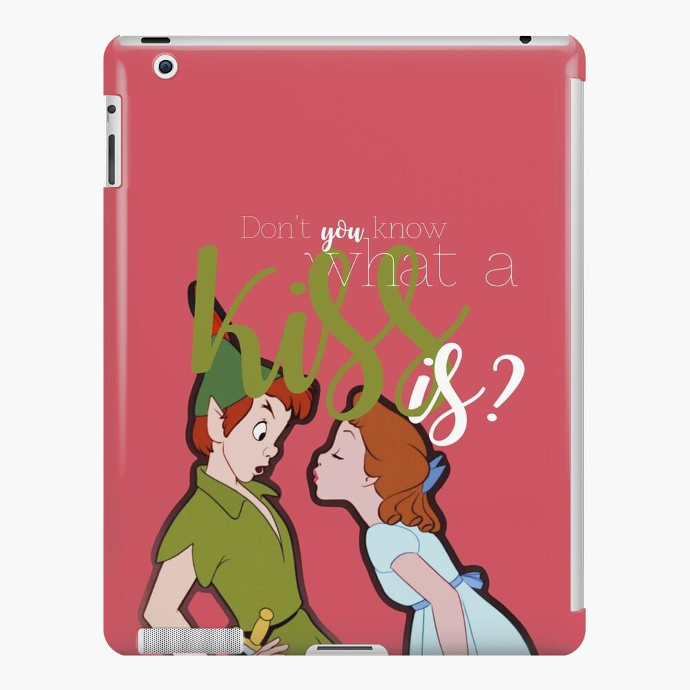 ¿No sabes lo que es un beso? - Peter Pan Funda y vinilo para iPad