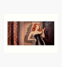 LOVELY RITA HAYWORTH Art Print