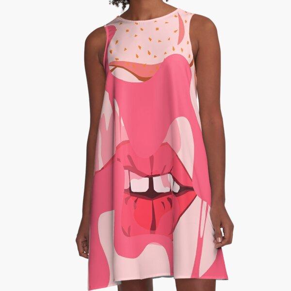 Bubblegum Pop A-Line Dress