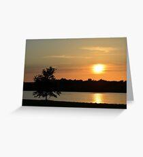 Golden Sunset Across Mozingo Lake Greeting Card