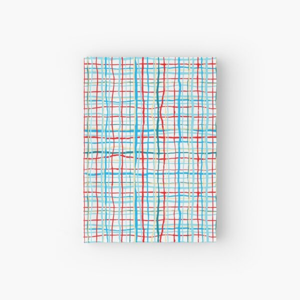 Funky Squiggly Line Plaid Hardcover Journal