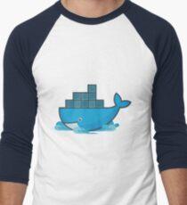 Docker Moby Whale Men's Baseball ¾ T-Shirt