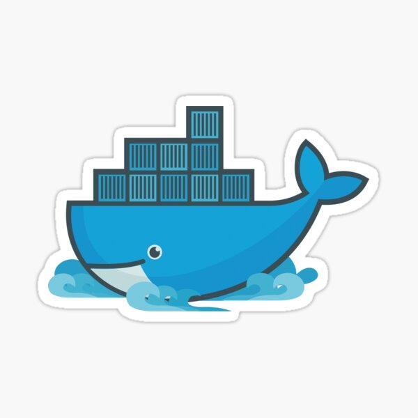 Docker Moby Whale Pegatina