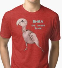 Rhea the Naked Birdie Tri-blend T-Shirt