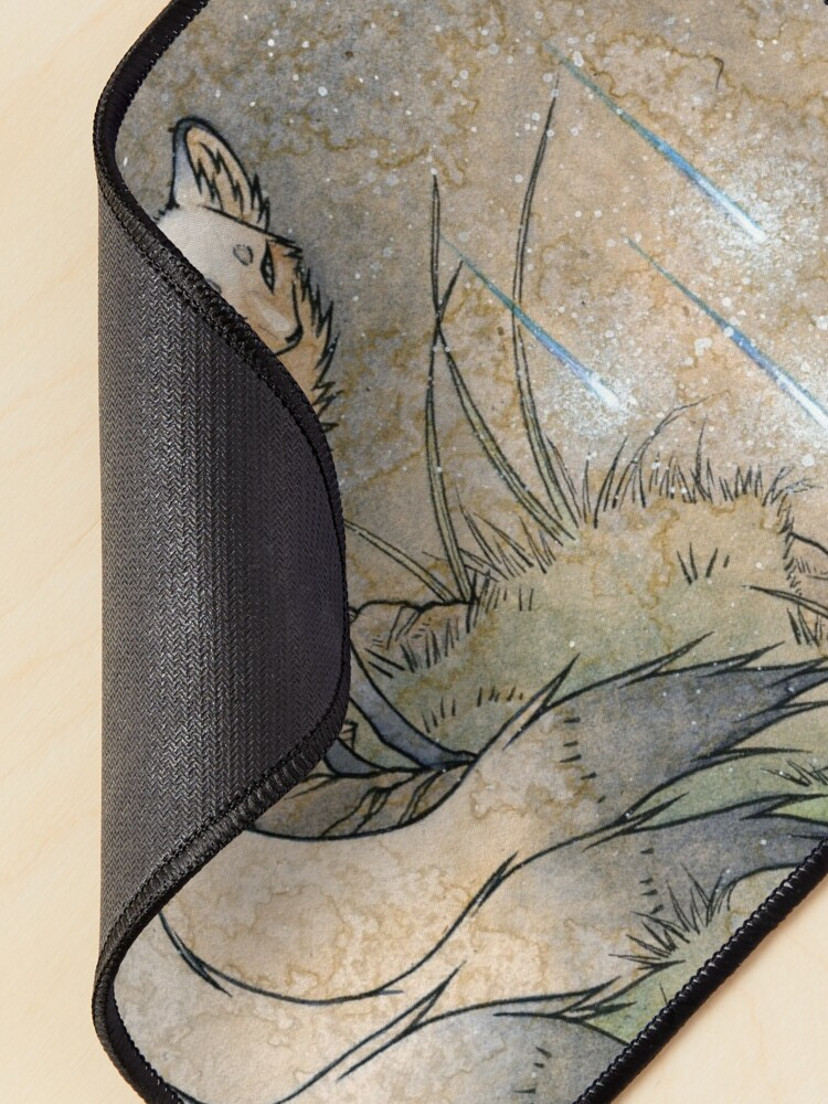 Alternate view of Fox & Wisps - TeaKitsune Fox Yokai Mouse Pad