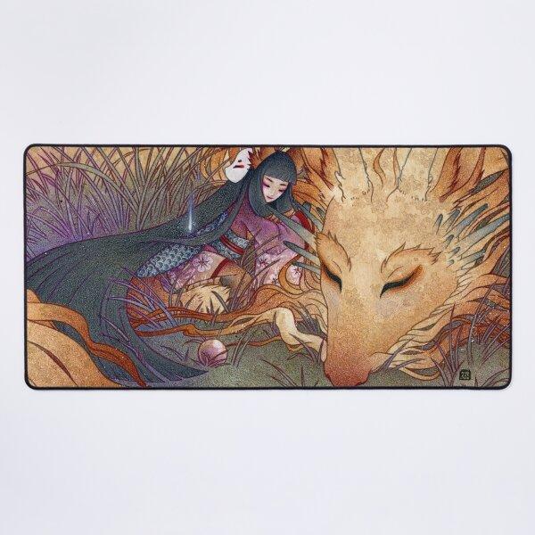 Slumber - TeaKitsune Dragon Fox Desk Mat
