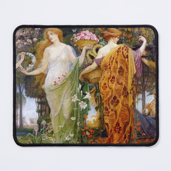 A Masque for the Four Seasons Walter Crane Mouse Pad