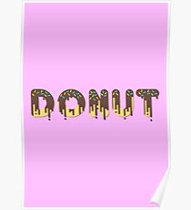 Dripping paint donut Poster