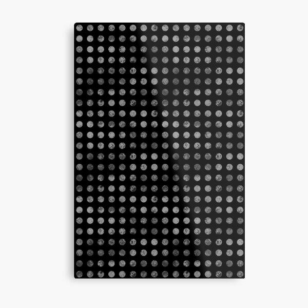 Dark Polka Dots Pattern Metal Print