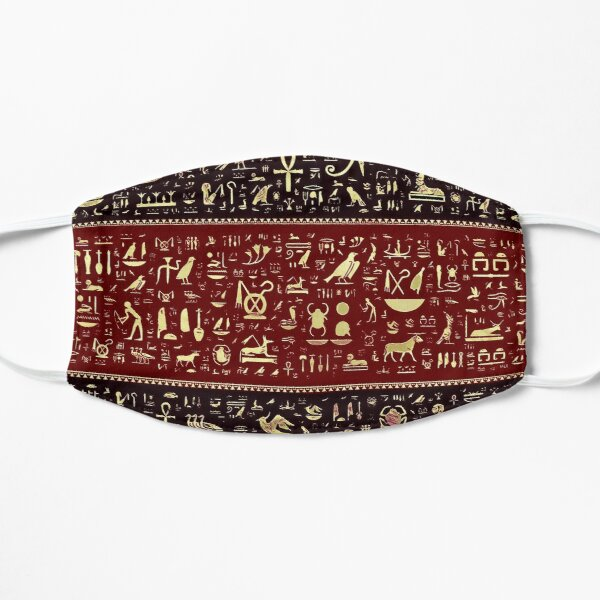 Egyptian Hieroglyphs  Flat Mask