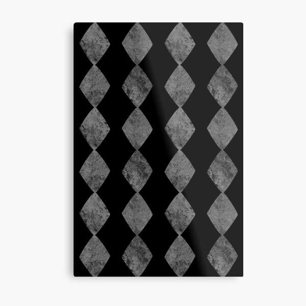 Diamond Card Symbol Suit Dark Pattern Metal Print