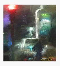 Abstract winter melbourne cityscape  Photographic Print