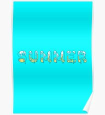Dripping paint summer Poster