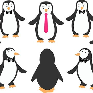 Unique Penguin - Pink Tie Edition by DavorPenguin
