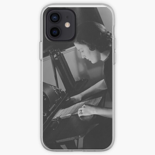 Woman at work iPhone Soft Case
