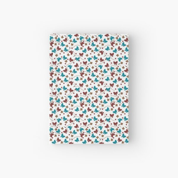 Red and Aqua Buttons and Bows Hardcover Journal
