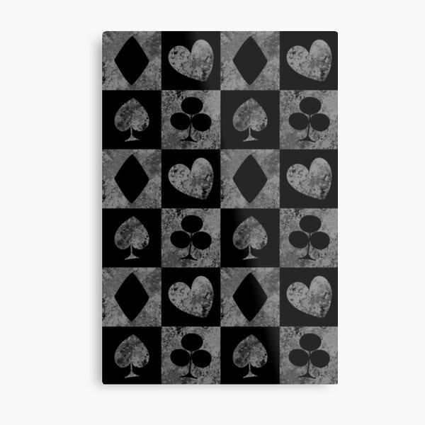 Card Suit Symbol Dark Pattern Metal Print