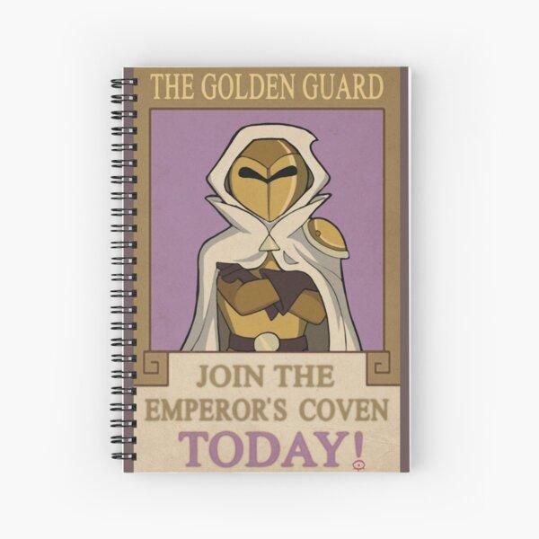The Golden Guard Poster Spiral Notebook