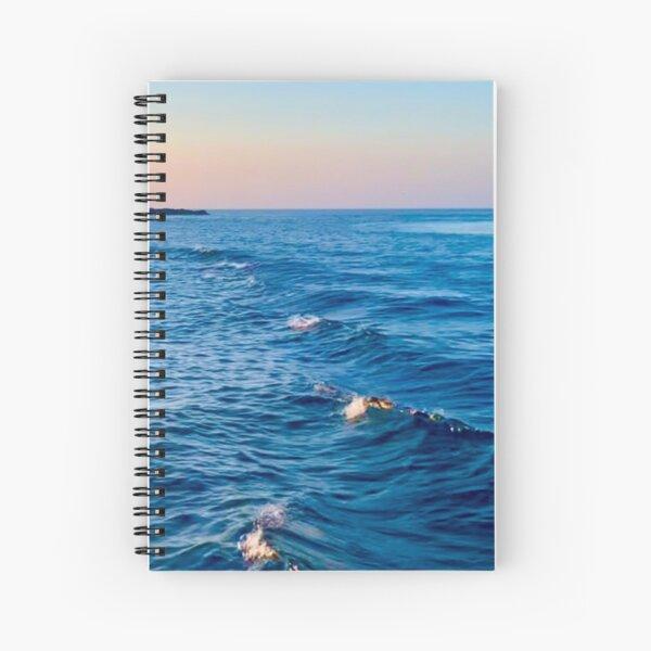 Ocean waves at Sunset  Spiral Notebook