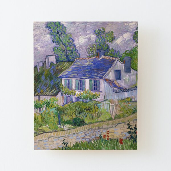 Houses at Auvers by Vincent van Gogh (1890) Wood Mounted Print