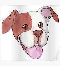 Happy Pit Bull Poster