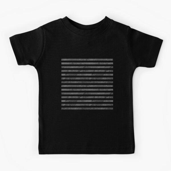 Horizontal Prison Jail Stripes Lines Pattern Kids T-Shirt
