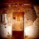 Battery Mishler entrance to a stairwell by Dawna Morton