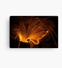 Fire at Cave In Rock Canvas Print