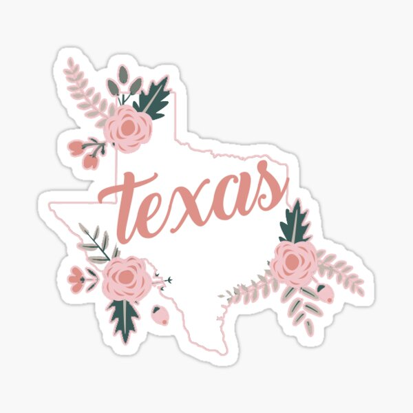 Floral Texas Roses Sticker