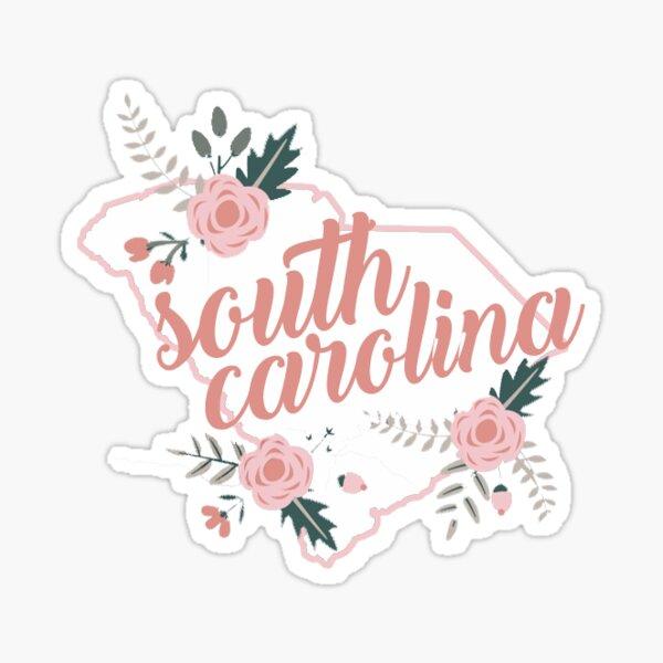 South Carolina Floral State Sticker